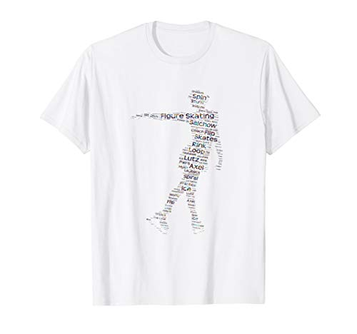 Figure Skating Word Cloud Art T Shirt for Ice Skaters ()