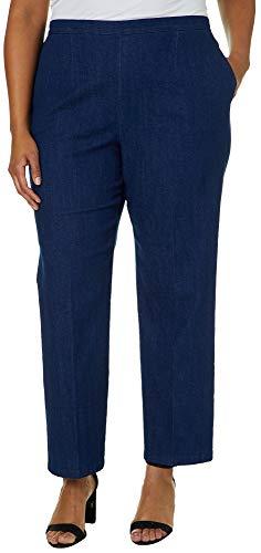 Alfred Dunner Plus Greenwich Hills Denim Pull On Pants 24W Denim Blue