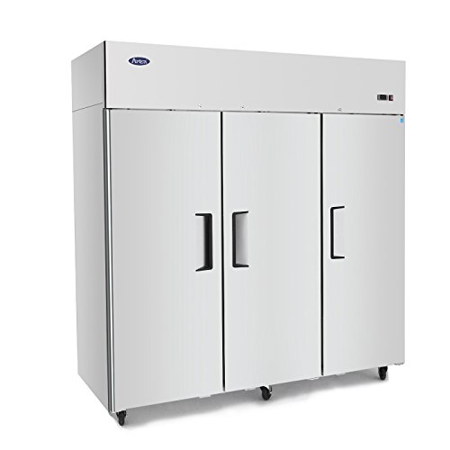 Commercial Refrigerator, ATOSA MBF8006 Single 3 Door Top Mount Stainless Steel Reach in Commercial Refrigerator 69.2 cu.ft.