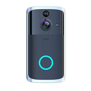 Smart Video Doorbell Wireless Home WiFi Security Camera, Iuhan M7 1080P Smart WIFI Security Doorbell Wireless Video Phone Camera Night Vision (Black)