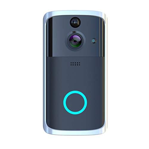 Wireless Doorbell, M7 1080P Smart WIFI Security Doorbell Wireless Video Phone Camera Night Vision (Black)