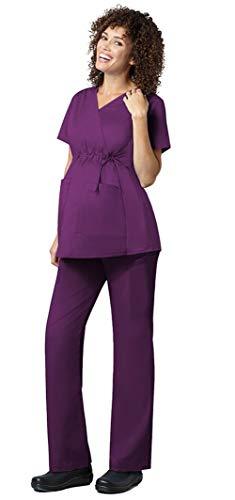 WonderWink WonderWork Women's Maternity High Waist Top 145 & Pants 545 Medical Uniforms Scrub Set