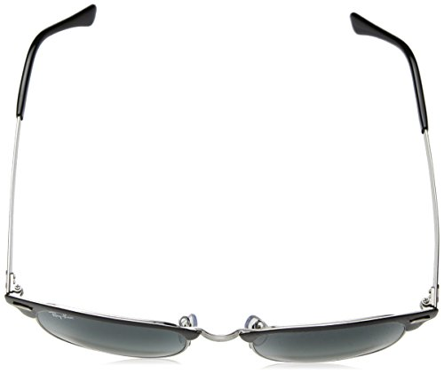 Ray Lunettes BLACK METAL unisexe SILVER 3716 Soleil Ban GREY de RB LIGHT SHADED CLUBMASTER qExgEZw