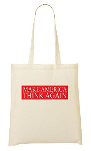 CP Make America Think Again Cool Bolso De Mano Bolsa De La Compra