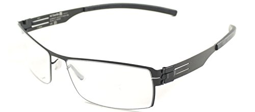 ic! Berlin Nufenen Medium Flex Black Metal Eyeglasses for sale  Delivered anywhere in USA