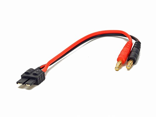 - Battery Charger Charging Cable: Traxxas High Current Male style to 4mm Bullet Banana Plugs