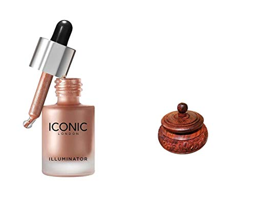Iconic London Illumainator Highlighter For Body, Face Makeup To Glow With Beautiful Small Kumkum | Sindur Box Handcrafted Combo Set