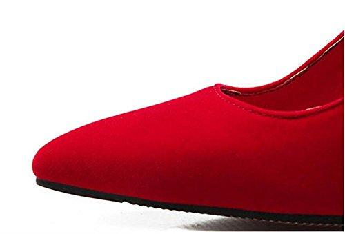 Pointe pointue femme ultra avec talon haut les chaussures sweet tribunal , red , 39