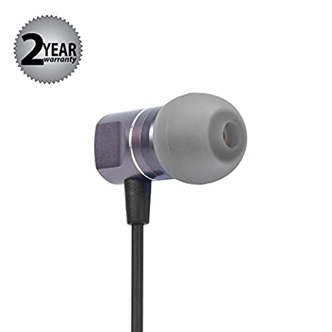 In Ear Headphones Earbuds Earphones Microphone Metal Noise Isolating 3.5mm for iPhone iPad iPod Android Smartphones Tablets Laptop Mac Computer MP3/4 In-Ear Mic/Controller (Black)