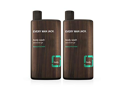 Every Man Jack Body Wash, Eucalyptus Mint, 16.9-Ounce (TWIN PACK)