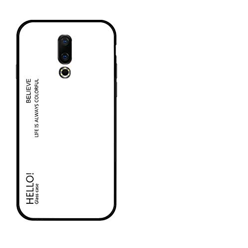 - Case for Meizu 16 Plus Case M6T Meilan 6T Phone Bag Gradient Glossy Anti-Knock Protective,White,for Meizu 16