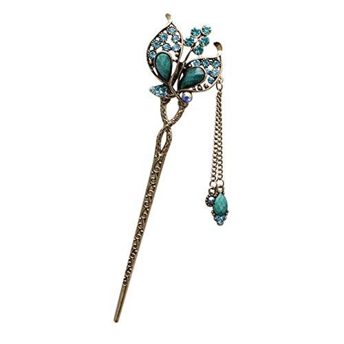 Various Fashion Women Elegant Bobby Pin Colorful Hairpin Rhinestone Hair Stick 7 -