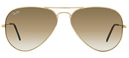 Ray-Ban RB3025 001/51 55mm Aviator Gold Frame / Light Brown Gradient Lenses Made In Italy - Ray Bans Aviator Brown