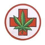 NSI - Bright Green Cannabis Leaf Pot Cross Patch