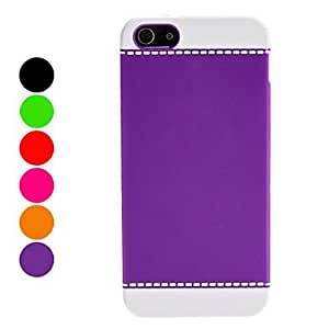 Simple Style Hard Case for iPhone 5/5S (Assorted Colors) , Red