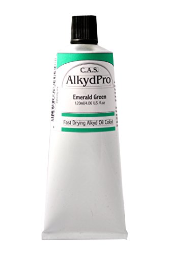 C.A.S. Paints AlkydPro Fast-Drying Oil Color Paint Tube, 120ml, Emerald Green