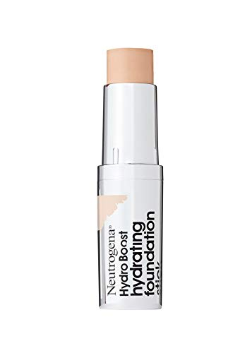 Neutrogena Hydro Boost Hydrating Foundation Stick with Hyaluronic Acid, Oil-Free & Non-Comedogenic Moisturizing Makeup for Smooth Coverage & Radiant-Looking Skin, Buff, 0.29 oz