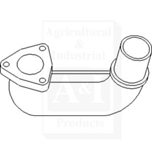 Massey Ferguson Tractor Exhaust Elbow Part No: A-3300940M1