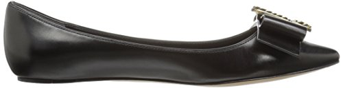 Marc Jacobs Women's Interlock Pointy Ballerina Pointed Toe Flat Black cheap price pre order i0fonOEIfz