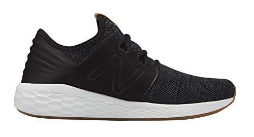 New Balance Women's Cruz V2 Fresh Foam Running Shoe, Black/White, 8 B US