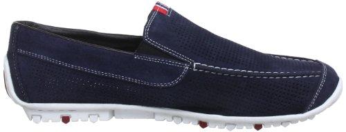 Rieker 08997-14 - Zapatillas de casa de cuero hombre azul - Blau (pazifik 14)