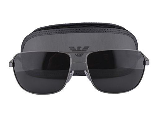 Emporio Armani EA 2033 Sunglasses Gunmetal Silver w/Gray Lens 3130/87 EA2033 For - Maui Sunglasses Jimmy