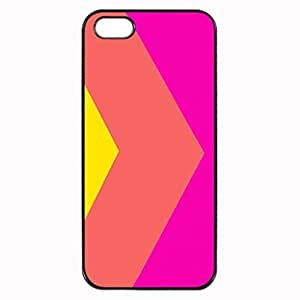 CORAL COLOUR BLOCKING Pattern Image Protective iphone ipod touch4 / iPhone 5 Case Cover Hard Plastic Case For iPhone ipod touch4