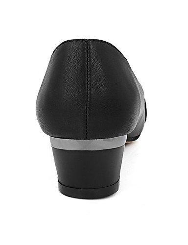 GGX Damen Schuhe Chunky Absatz spitz zulaufender Zehenbereich Strass Strass Strass Slip auf Pumpe mehr Farbe erhältlich 26a9b3