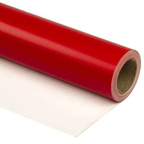 RUSPEPA Red Wrapping Paper Solid Color for Wedding, Birthday, Shower, Congrats, and Holiday Gifts – 30 Inch x 32.8 Feet