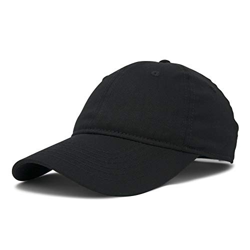 DALIX Womens Hat Lightweight 100% Cotton Cap in Black