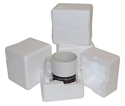 50 se envía en una caja de poliestireno expandido resistentes al taza de plástico para envíos
