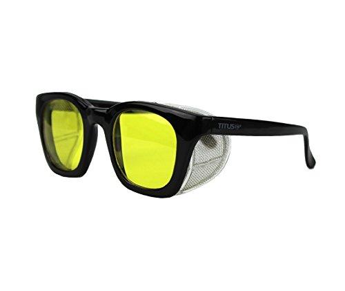 Titus Retro Style Safety/Riding Glasses (Yellow)