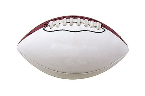 Baden Mini 8.5-Inch Size Autograph Football with 2 Brown and 2 White Panels ()