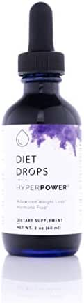 HyperPower Non HCG Drops for Weight Loss - 2oz Diet Drops - Effective Carb Blocker & Appetite Suppressant for Women & Men - Made in USA