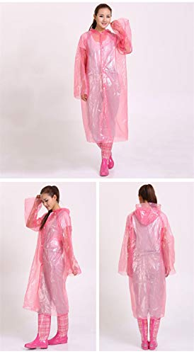 Agennix Store 1pcs Disposable Rain Coat Material Adult Emergency Poncho Hiking Camping Hood Must Disposable Rain Clothes Wholesale ()