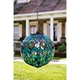 Carson Mosaic Peacock Solar Orb, multicolored, 8x8