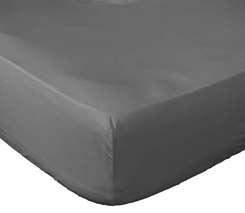 (Lux Decor Collection Fitted Sheet King White Brushed Microfiber 1800 Bedding - Wrinkle, Fade, Stain Resistant - Hypoallergenic (Grey, King))