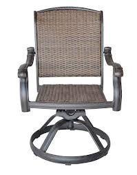 theWorldofpatio Santa Clara Cast Aluminum Powder Coated Set of 2 Swivel Rocker Dining Chair
