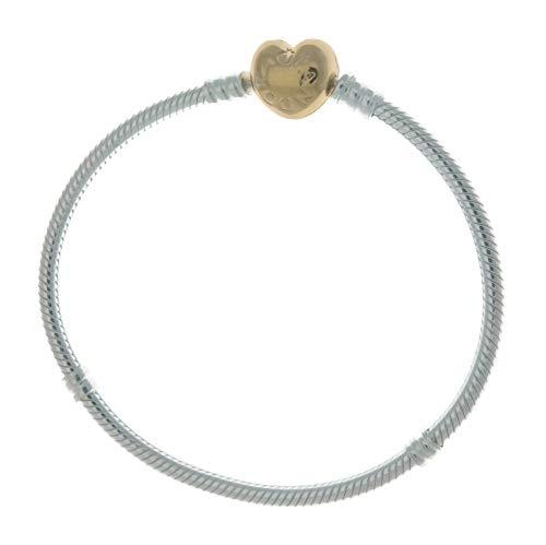 Pandora Shine Heart Silver 7.1 inches Bracelet 560719-18 by Pandora (Image #1)