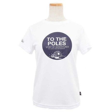 開業医億年金ポールワーズ(ポールワーズ) グラフィックプリントTシャツ レディース 高機能Tシャツ PWB7S4094W WHT