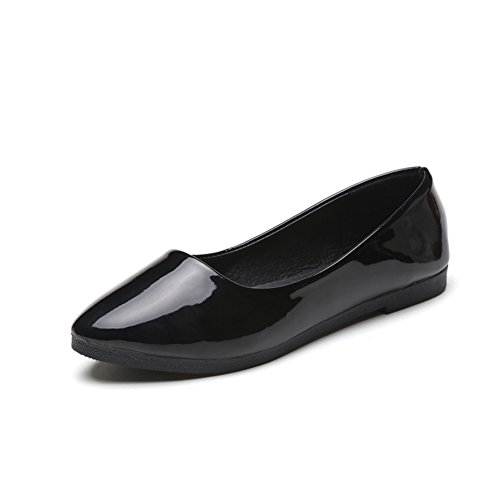 Joker moda mujer zapatos planos/Versión coreana de la zapata de Doug/Zapatos de primavera/Rollo de huevo zapatos A