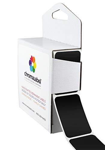 (ChromaLabel 1 x 1-1/2 inch Color-Code Labels | 250/Dispenser Box (Black))