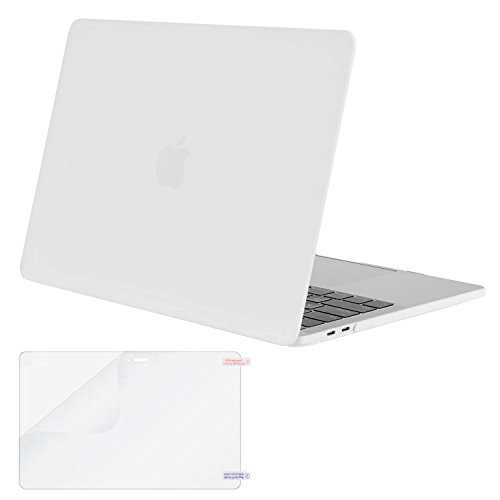 Mosiso MacBook Pro 13 Case 2017 & 2016 Release A1706/A1708, Plastic Hard Case Shell Cover with Screen Protector for Newest Macbook Pro 13 Inch with/without Touch Bar and Touch ID, White