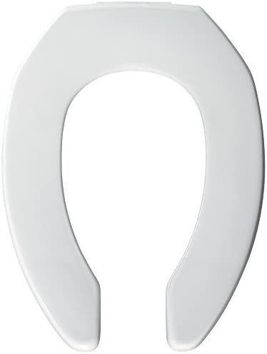 Bemis 3L2150T 000 Medic-Aid Plastic Raised Open Front Toilet Seat with Cover and 3-Inch Lift, Elongated, White by Bemis 31oRZ62OLfL