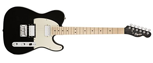 Squier by Fender Contemporary Telecaster Electric Guitar - HH - Maple Fingerboard - Black Metallic