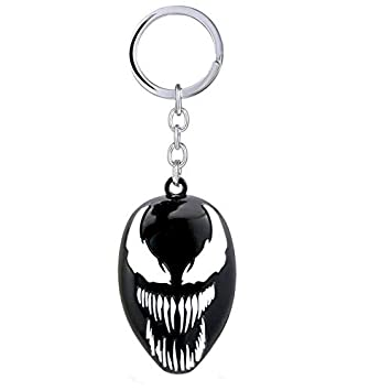 Venom The Movie 2018 Metall Schlüsselanhänger Logo Mask Gesicht 6