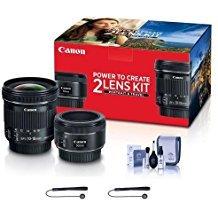 (Canon Portrait & Travel 2 Lens Kit - EF 50mm f/1.8 STM Lens & EF-S 10-18mm f/4.5-5.6 is STM Lens - Includes Cleaning Kit, Capleash II)