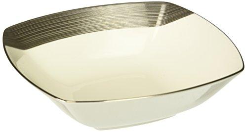 Mikasa Ridge Square Platinum Soup Bowl ()