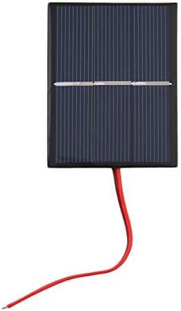 Rouku 0,65 W 1,5 V 300 mA polykristallines Silizium-Solarpanel Mini-Solarzellen-Ladegerät für Heimwerker DIY-Solarzellen mit Kabel