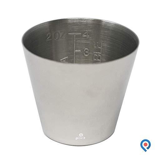 Pivit Graduated Stainless Steel Medicine Cup, 2 Oz 2